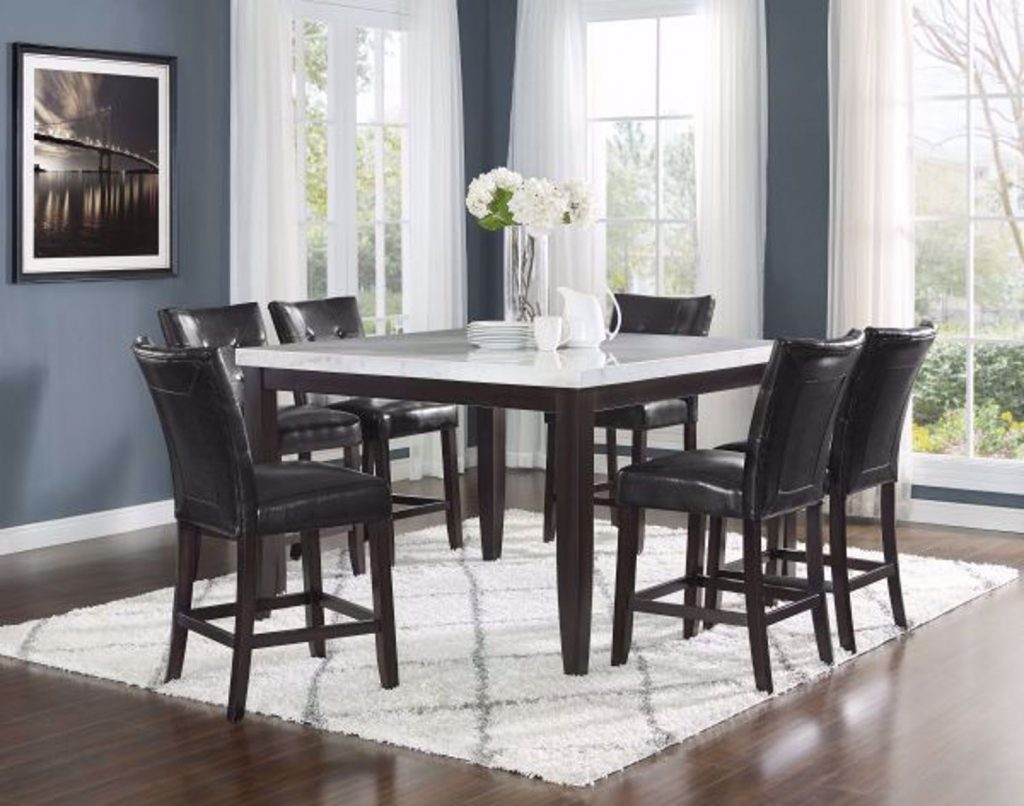 Francis Five Piece Counter Height Dining Set
