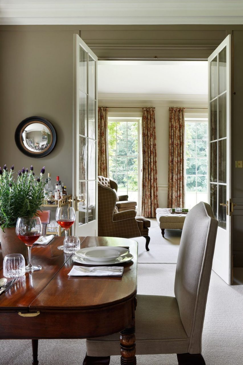 French Doors Lead From The Dining Room To Drawing Room Dining