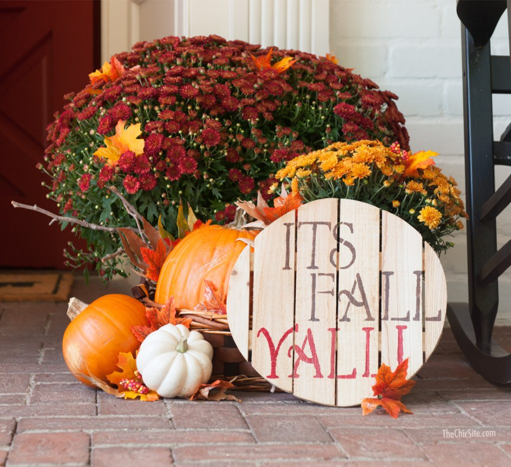 Front Porch Fall Decor The Chic Site