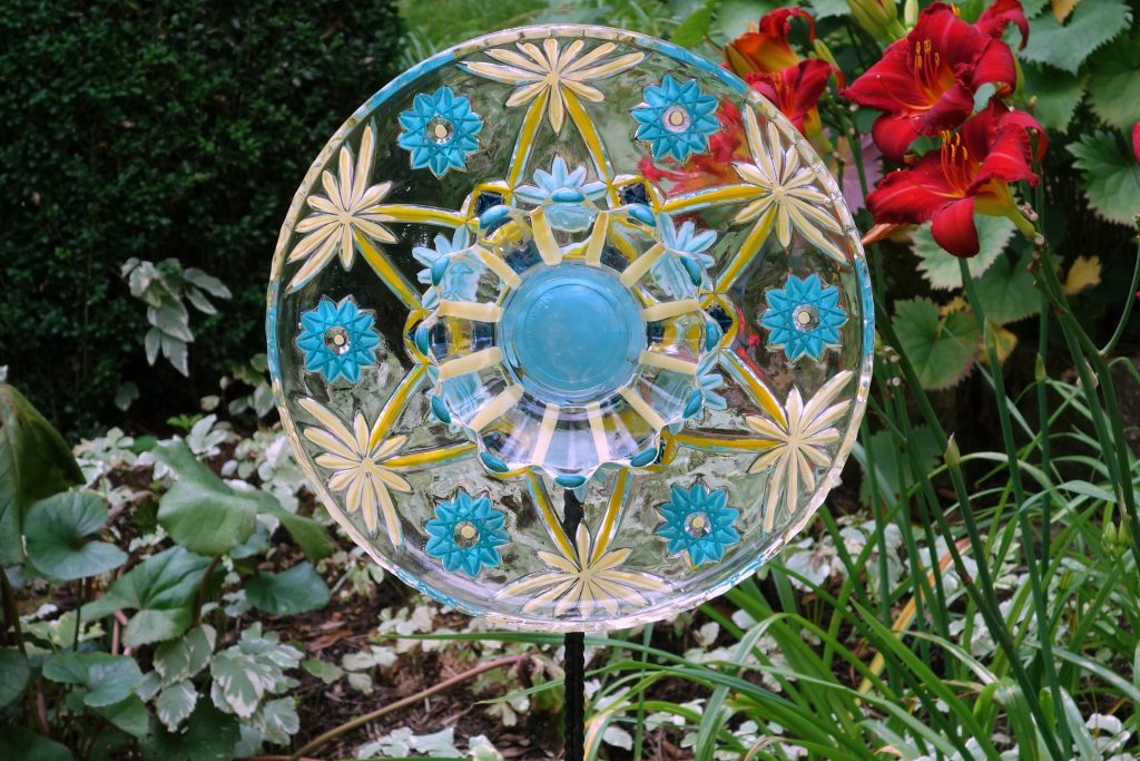 Glass Garden Flowers Yard Sun Catcher Garden Yard Art And Etsy