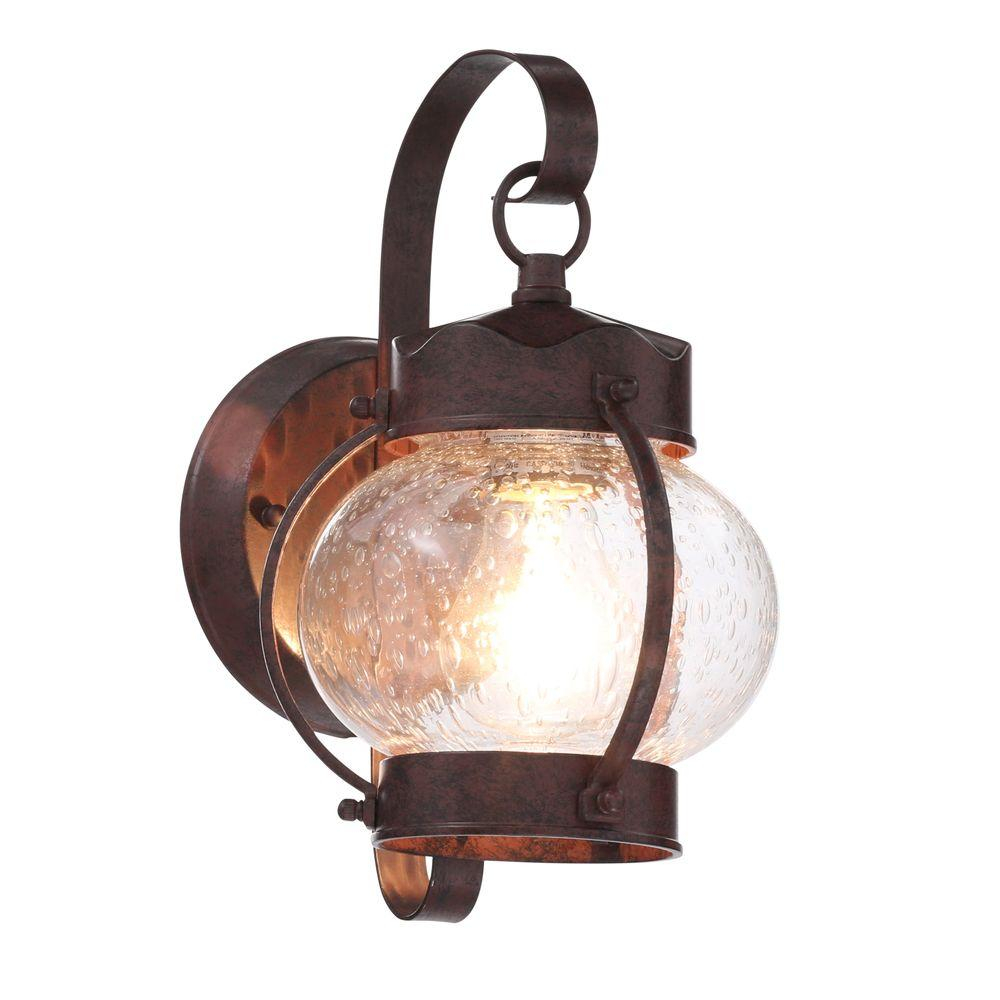 Glomar 1 Light Old Bronze Outdoor Onion Wall Mount Lantern With
