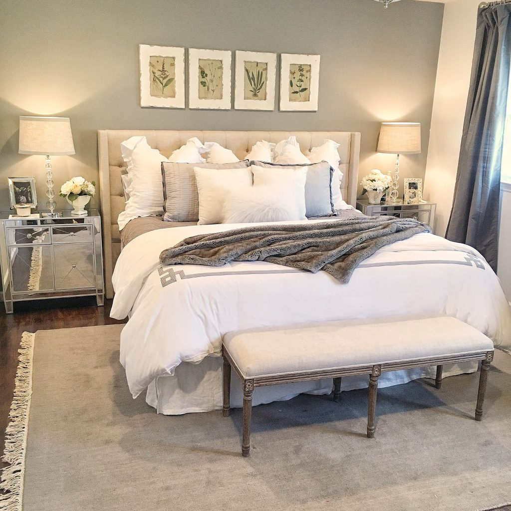 Gray And White Master Bedroom Elegant Neutral Bedroom White
