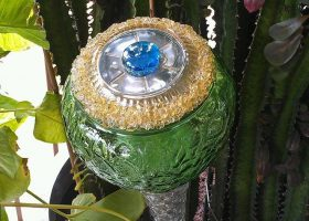 Recycled Glass Garden Art