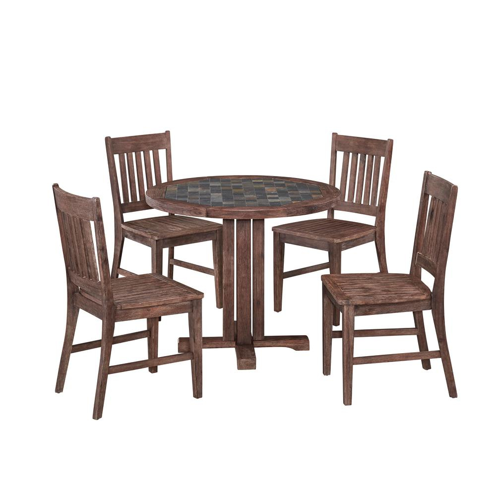 Home Styles Morocco 5 Piece Patio Dining Set 5601 329 The Home Depot