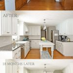 Painted Kitchen Cabinets with White