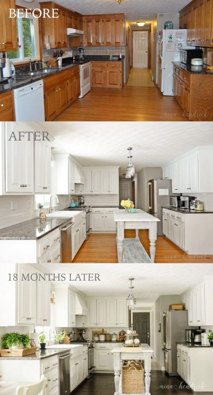 How To Paint Oak Cabinets And Hide The Grain Kitchen Design