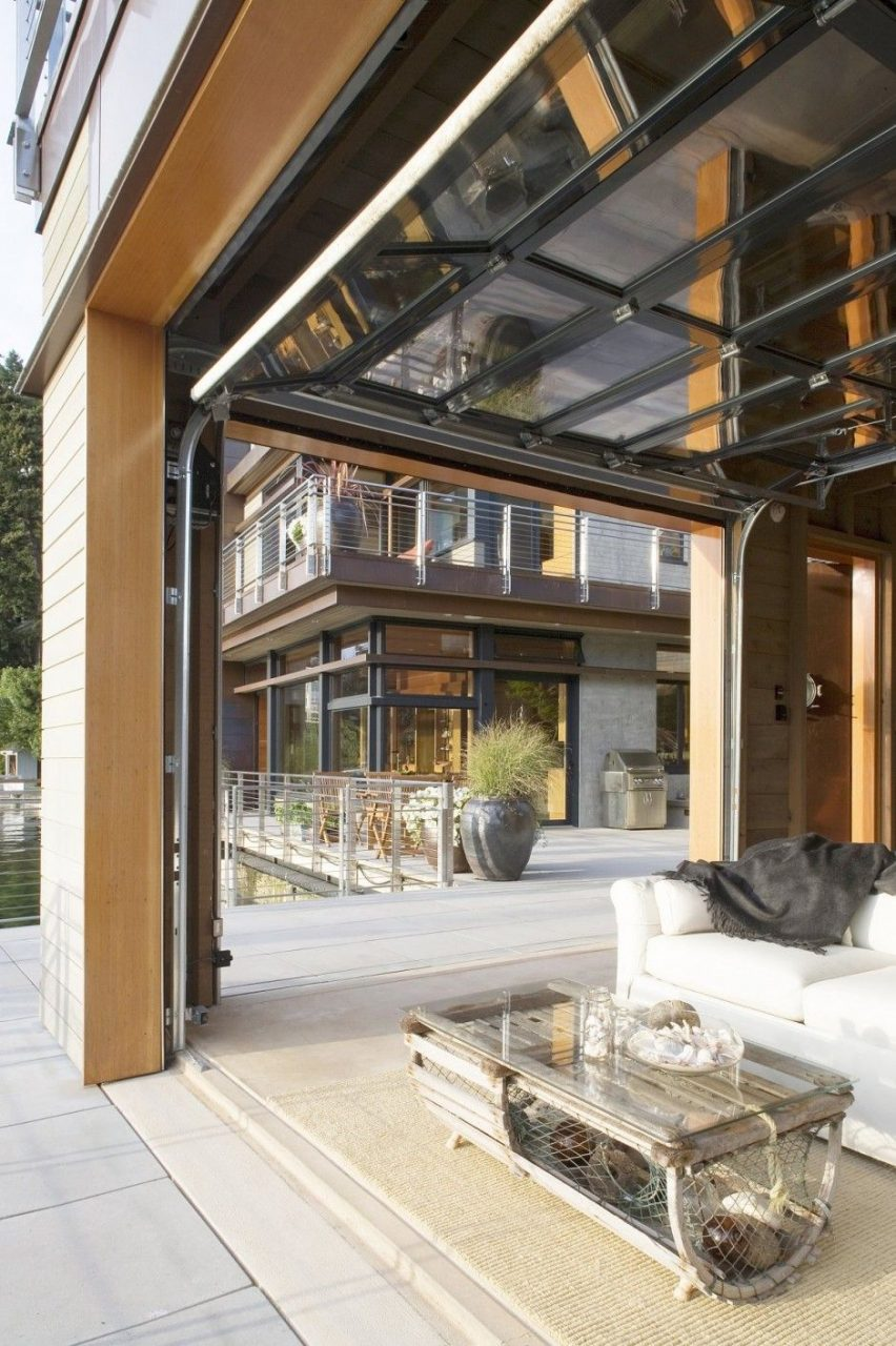 Interior Room Transforms To An Outdoor Living Space With Windows