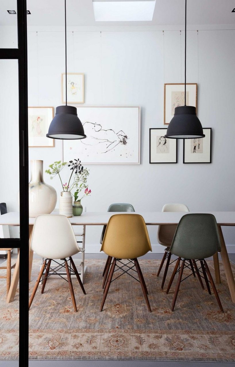 Interior Style Eames Chairs Dining Room Cool Dining Rooms