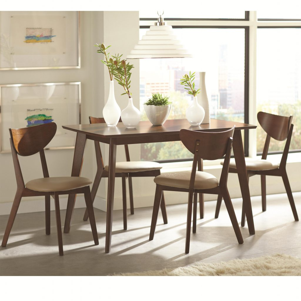 Kaia 5 Piece Dining Set With Angled Legs Rotmans Dining 5 Piece Sets