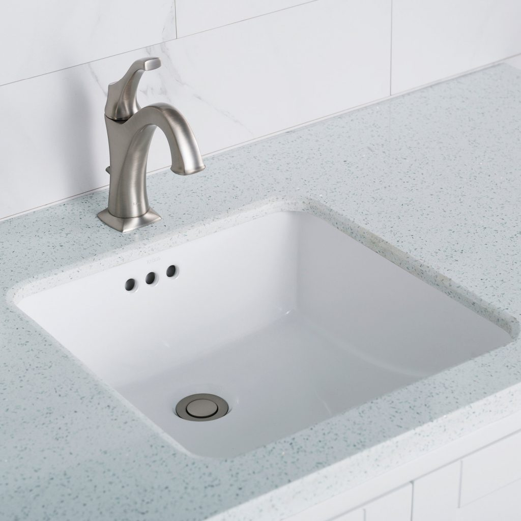 Kcu 231 Kraus Elavo Ceramic Square Undermount Bathroom Sink With