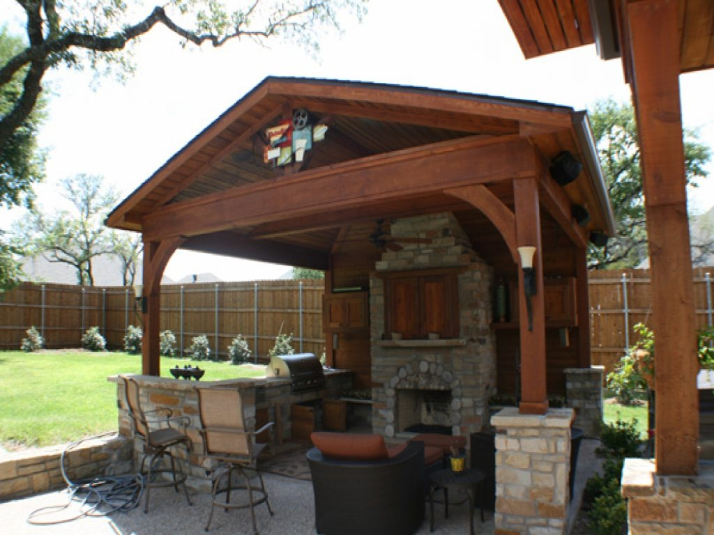 Kitchen Natural Stone Wall Outdoor Gazebo Finish Wood Trends And