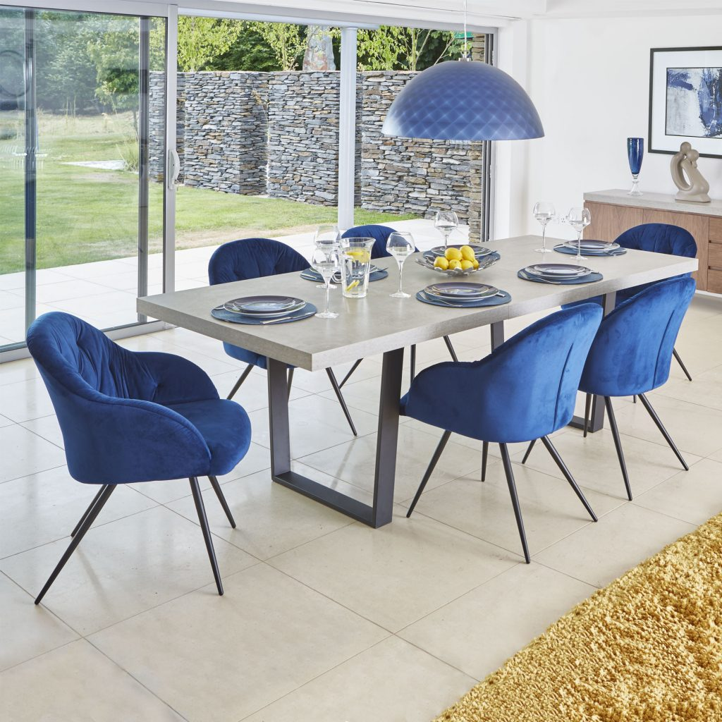 Levante 180cm Concrete Effect Extending Dining Table 6 Elson