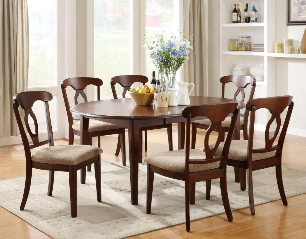 Liam Cherry Wood Dining Table Set Steal A Sofa Furniture Outlet