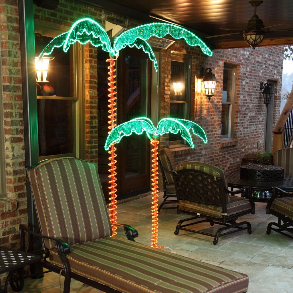 Lighted Palm Trees Yard Envy