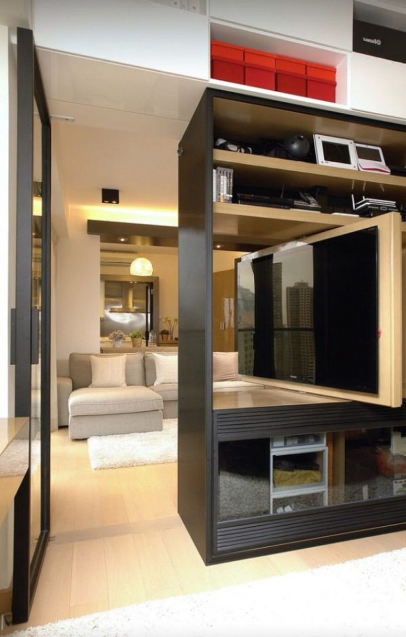 Living Room Get Multifunctional And Saving Space Look With