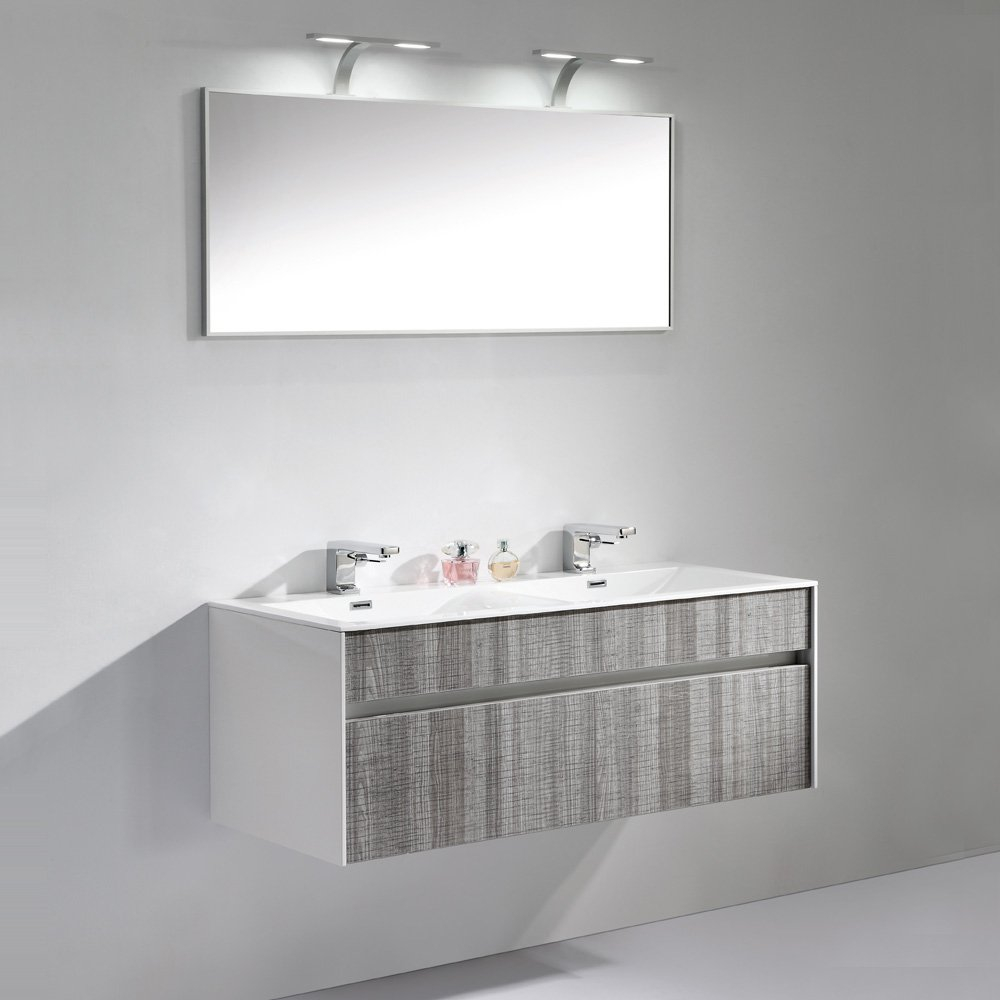 Lusso Encore Double Designer Wall Mounted Bathroom Vanity Unit 1200