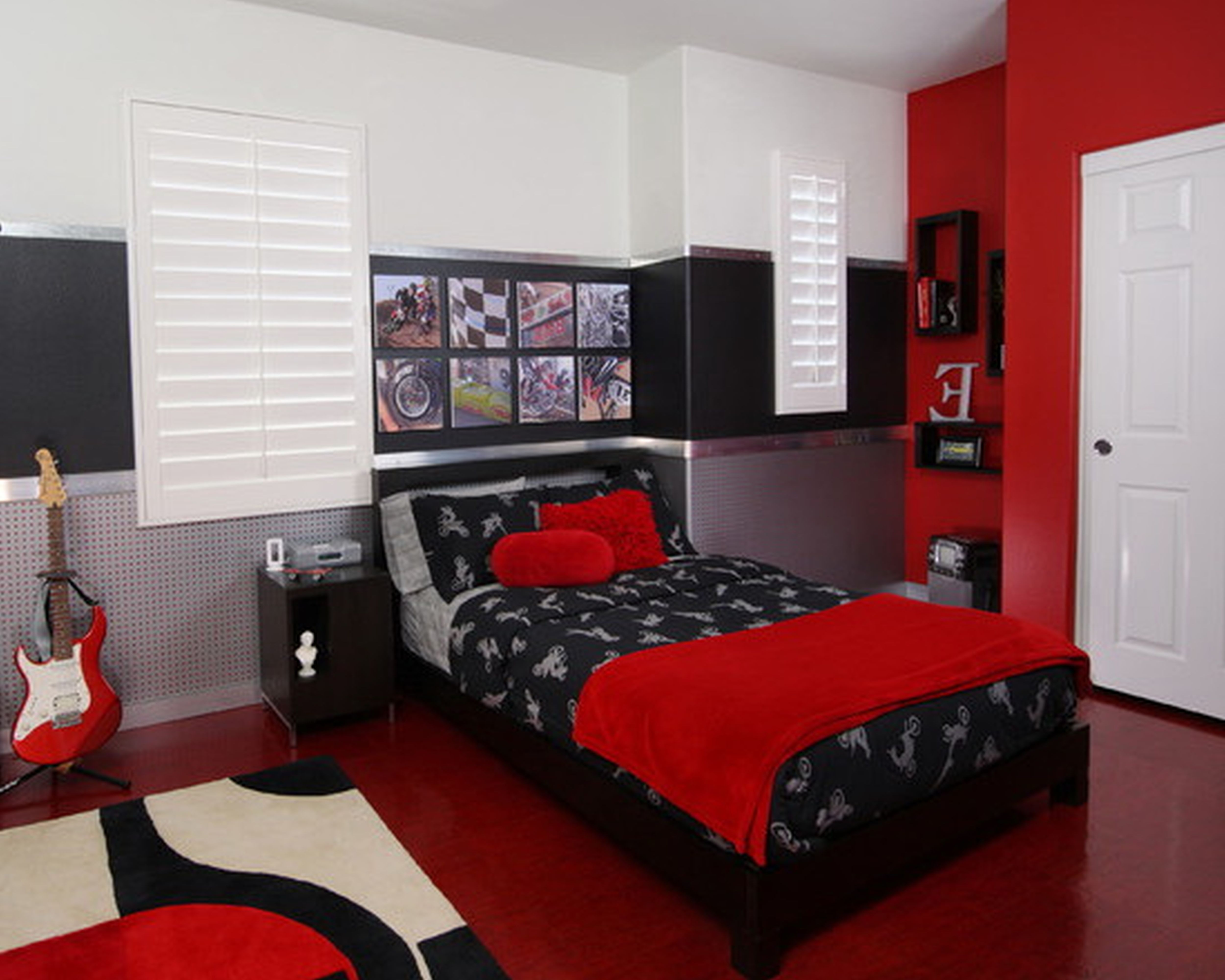 Magnificent Rooms With Red Black And White Decorating Ideas Layjao