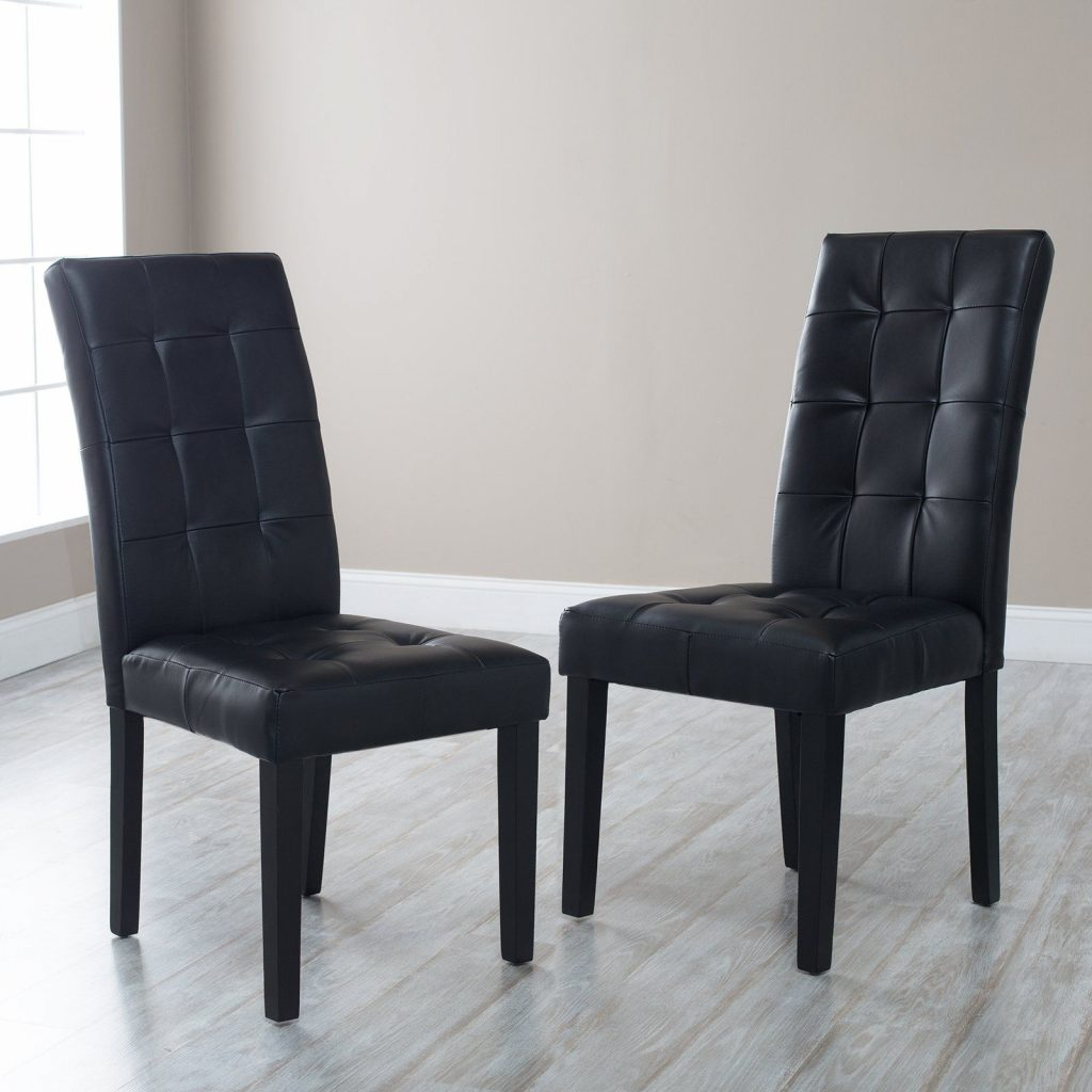 Martha Bonded Leather Parsons Dining Chair Set Of 2 Martha Prs