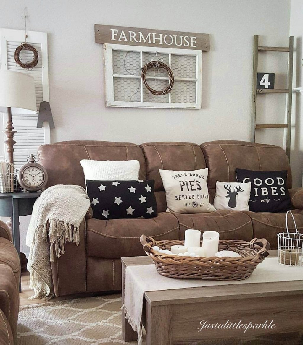 Microfiber Couch Farmhouse Living Room Decor Ideas These Pillows Are