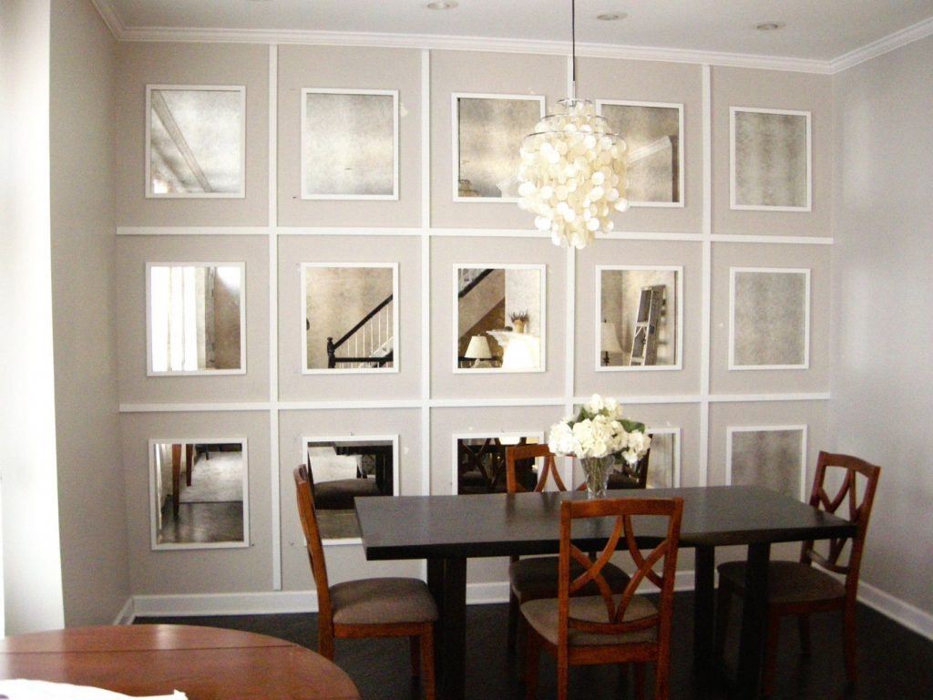 Mirrored Wall Antiqued Mirrors For The Home In 2019 Pinterest