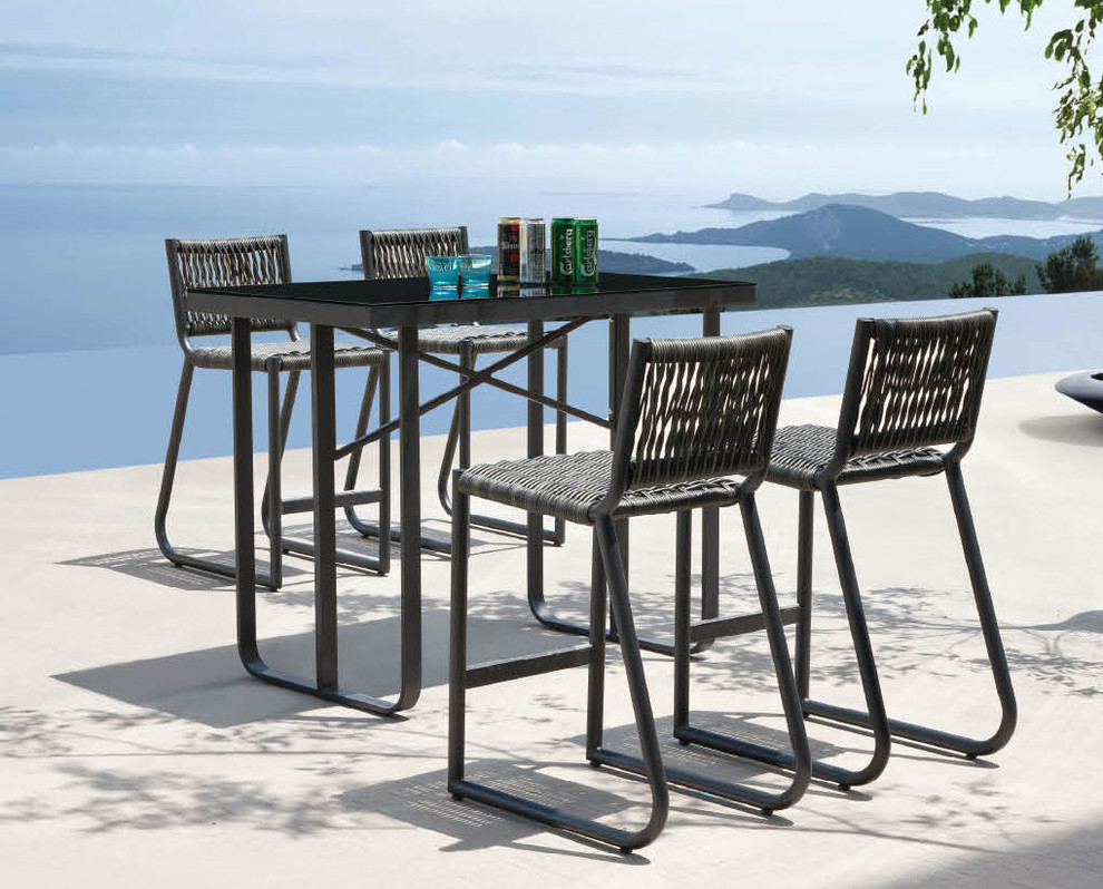 Modern Bar Height Outdoor Table Stefan Abrams Having Fun With