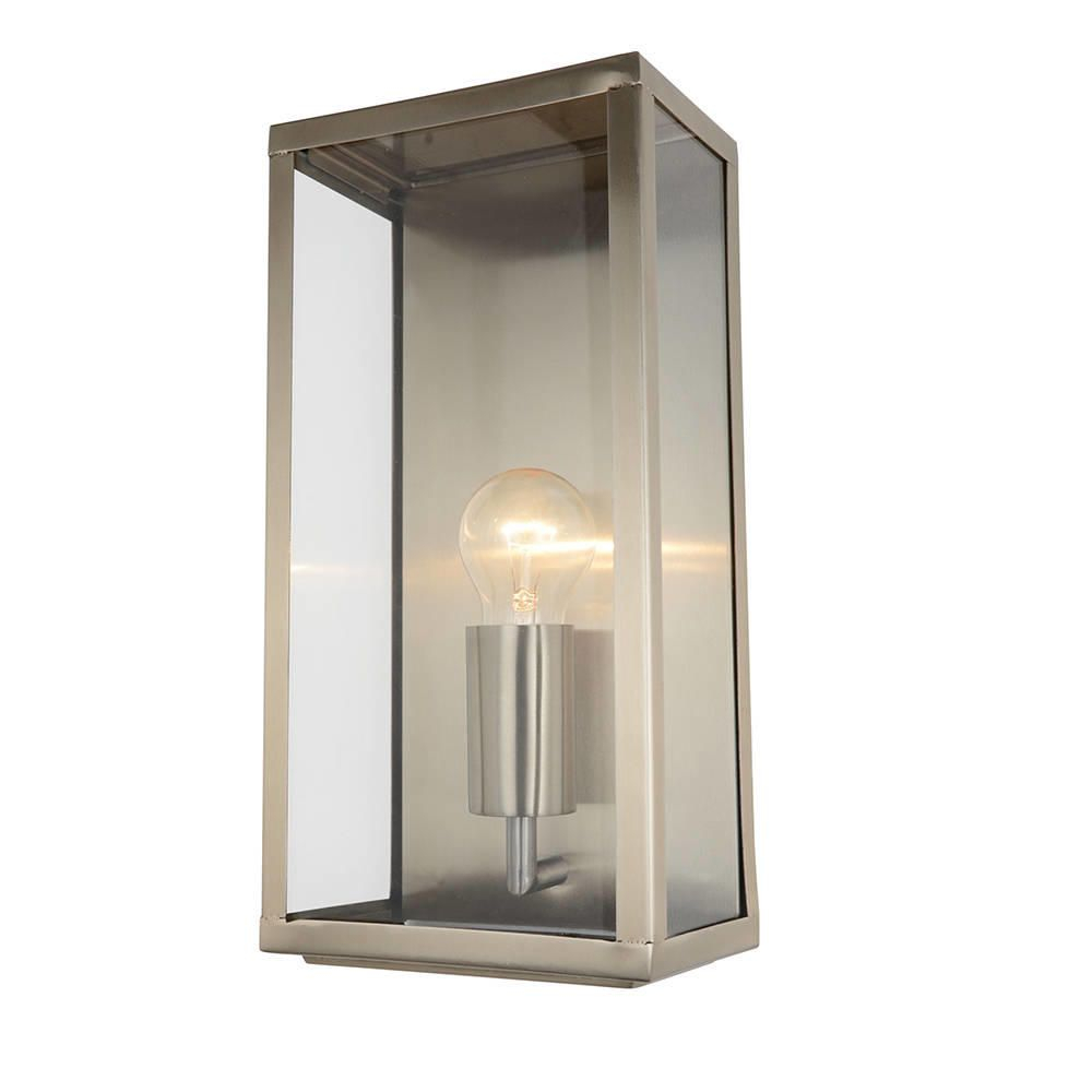 Modern Garden Outdoor Ip44 Rated Wall Lantern Light Stainless Steel