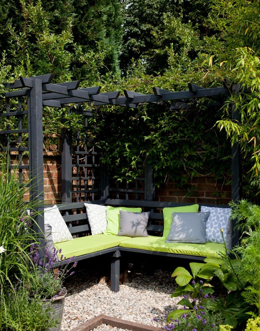 Modern Garden With Arbour And Climbing Plants Garden Outdoor