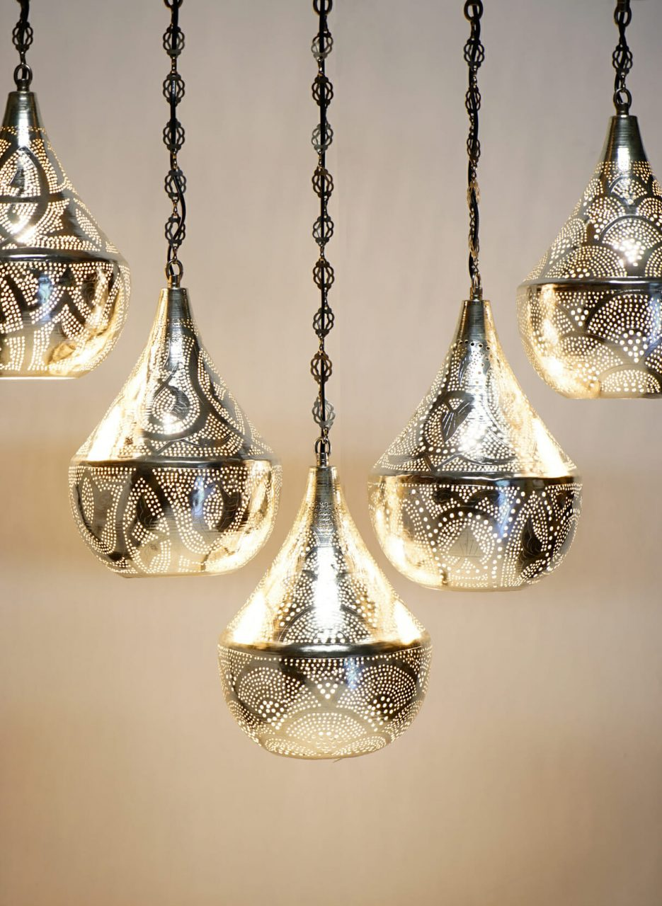 Moroccan 5 Pendant Bar Light The Dancing Pixie
