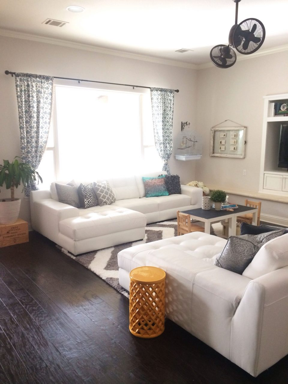 White Sectional Living Room Layjao