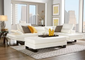 White Sectional Living Room