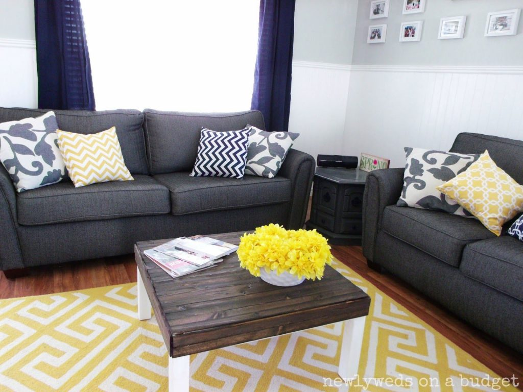Navy Blue Rooms Ideas Navy Blue And Yellow Living Room Newlyweds