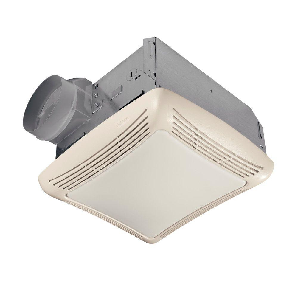 Nutone 50 Cfm Ceiling Bathroom Exhaust Fan With Light 763n The