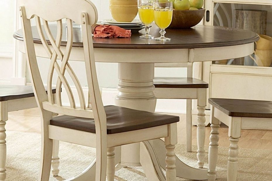 Ohana White Round Dining Table Casual Kitchen Dining Tables In Size