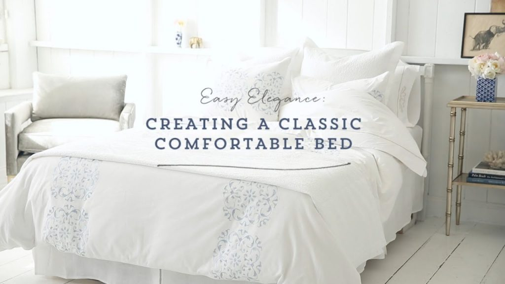 One Kings Lane Creating A Classic Comfortable Bed Youtube