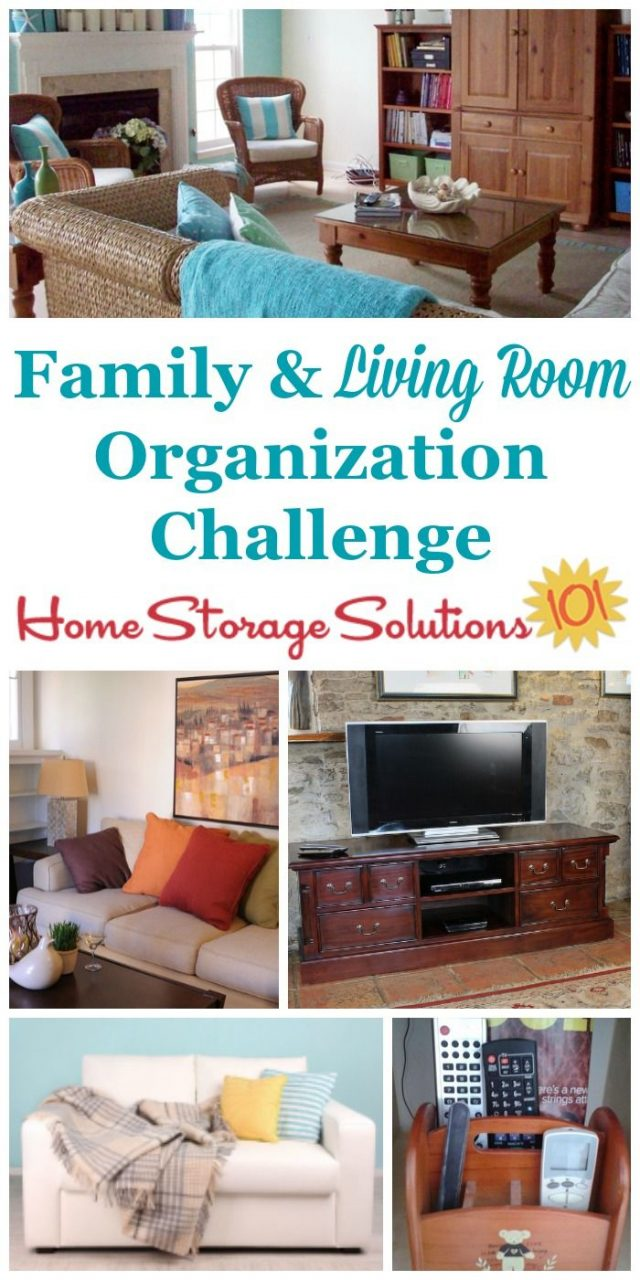 Organizing Living Room Family Room Challenge Organizing Room