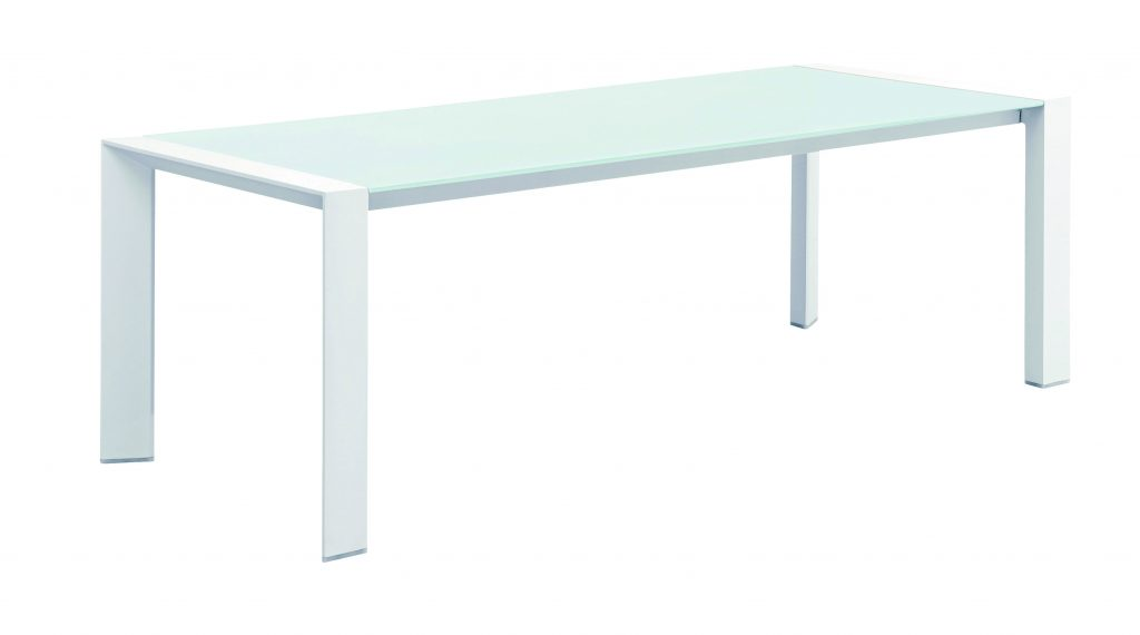 Orlando Dining Table White Frame And White Top 220cm Gardens Roses