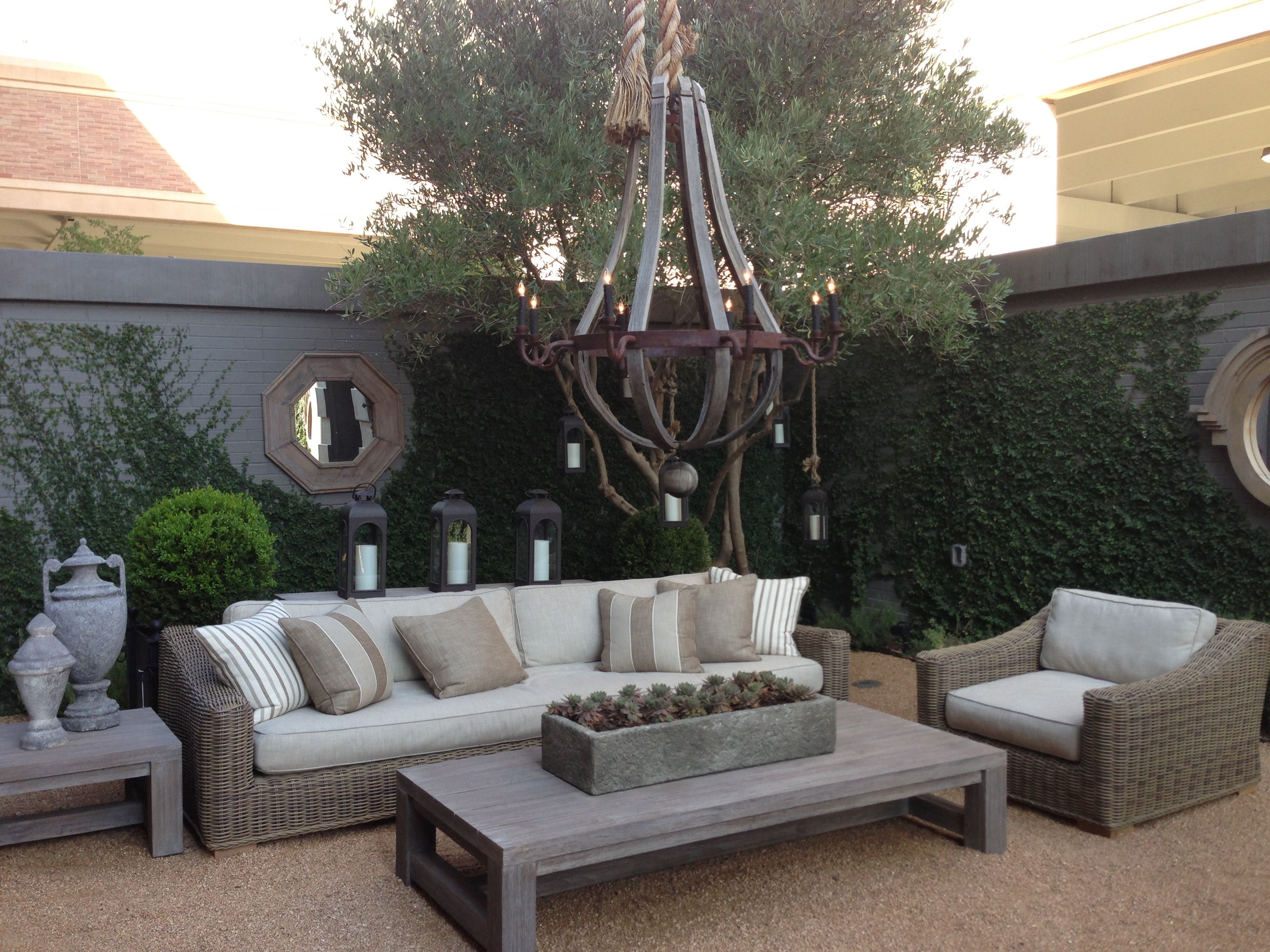 outdoor living restoration hardware summer pinterest