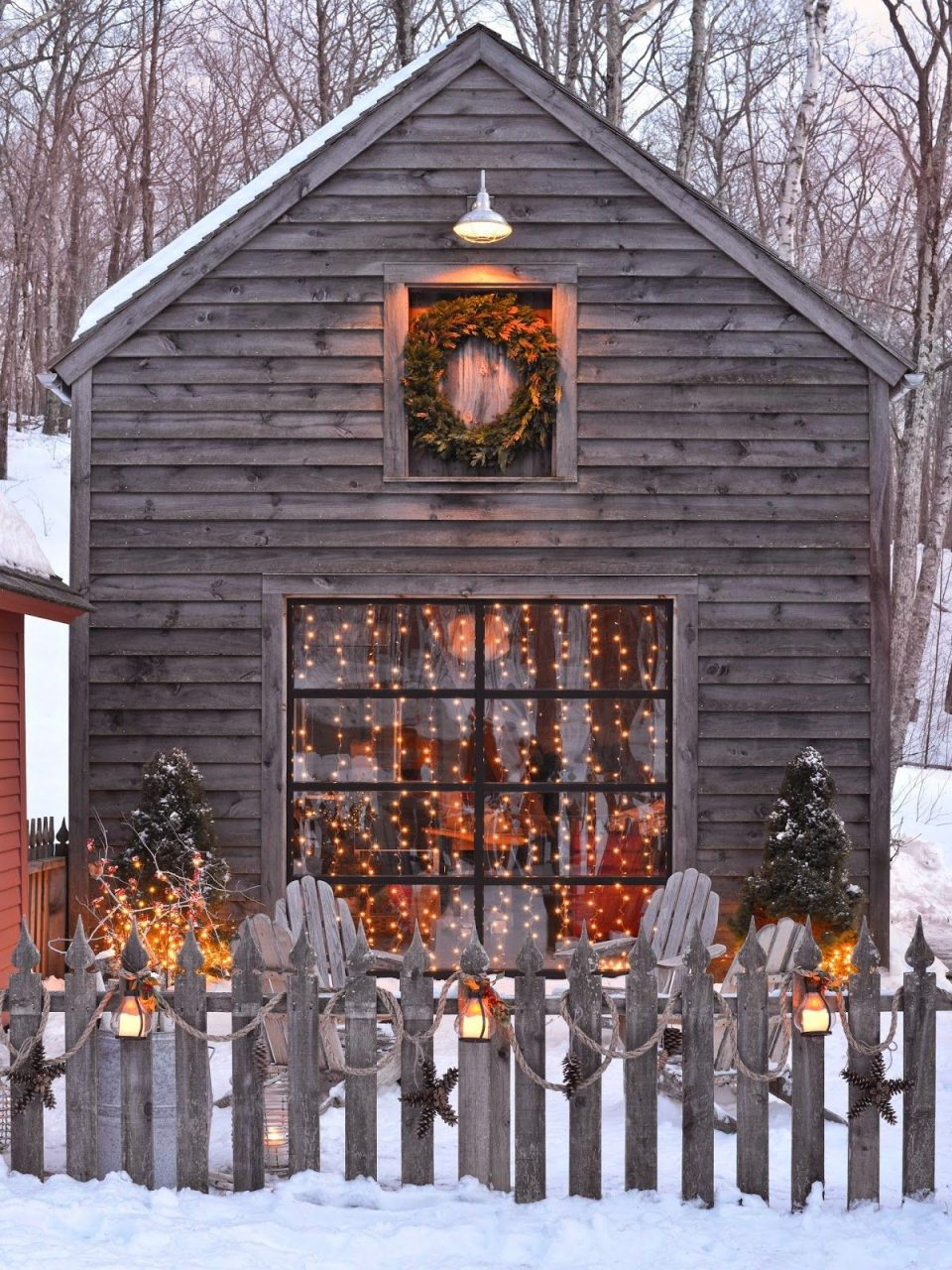 Outdoor Spaces Winter Lights Snow Christmas Christmas