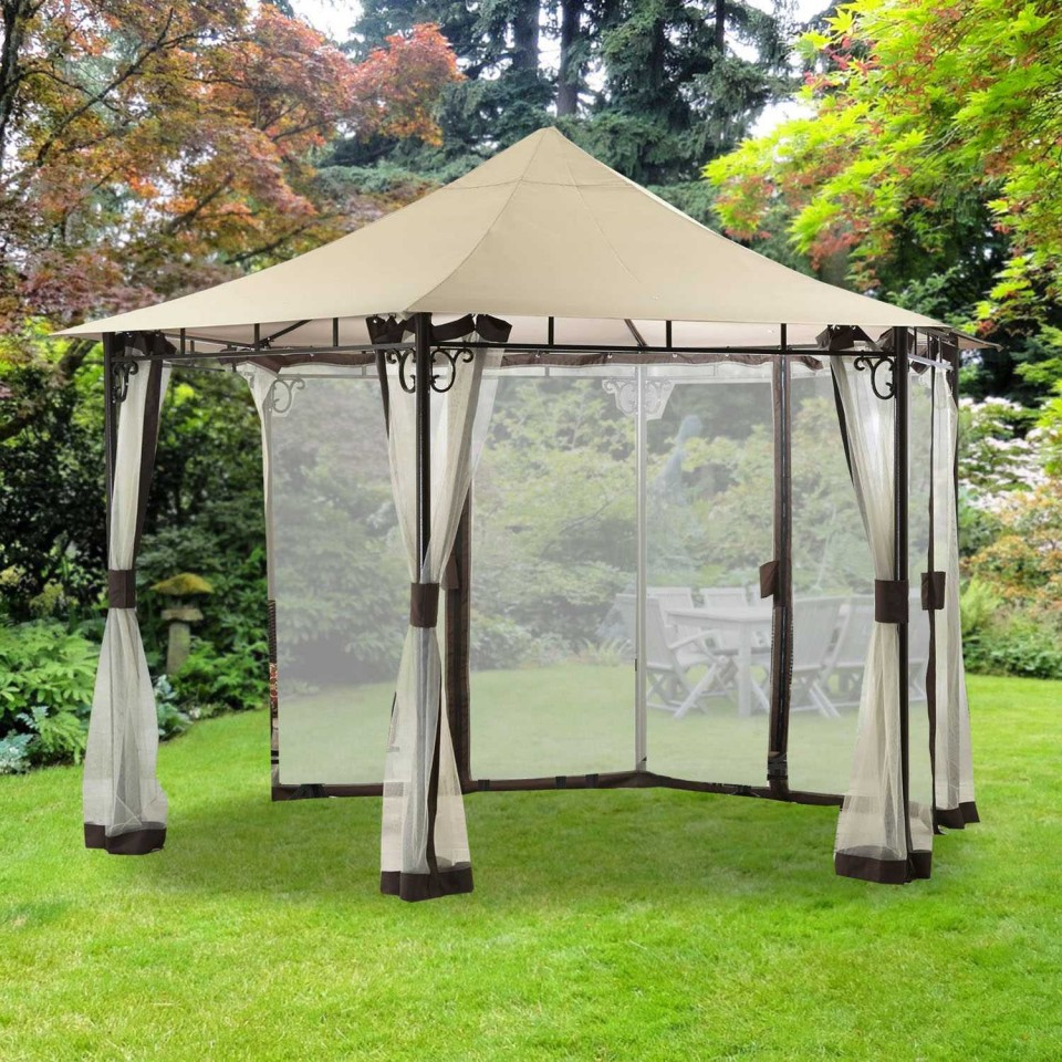 Outdoor Walmart Gazebos And Canopies For Your Backyard Decoration