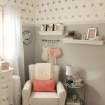Peach White and Gray Bedroom