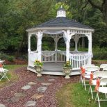 Pictures Of Gazebos Decorated For A Wedding The Gazebo Is A