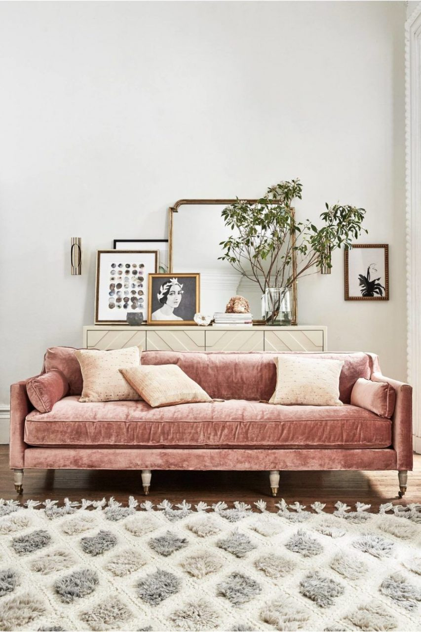 Pin Palmalina On Projekty Do Wyprbowania Velvet Sofa Living