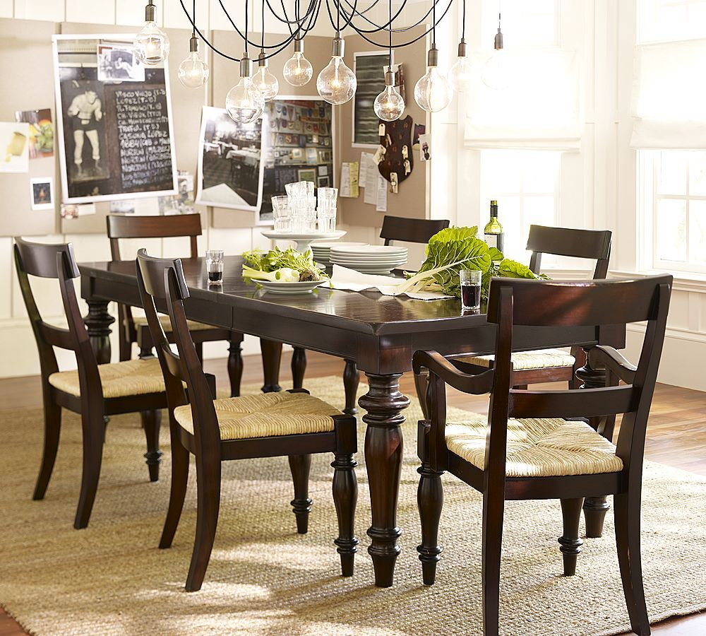 Pottery Barn Montego Turned Leg Dining Table Copy Cat Chic Extending