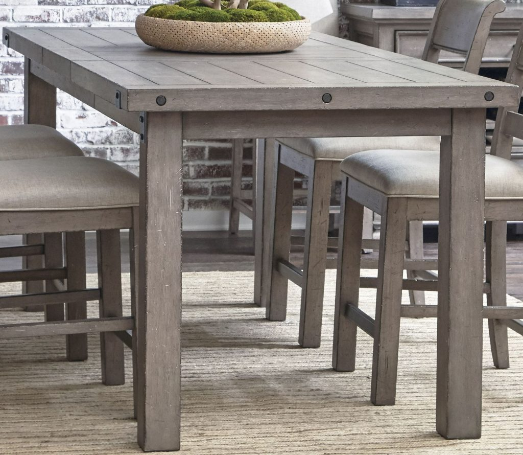 Prospect Hill Gray Rectangular Counter Height Dining Table Making