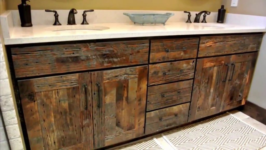 Reclaimed Wood Bathroom Vanity Home Design Decorating And