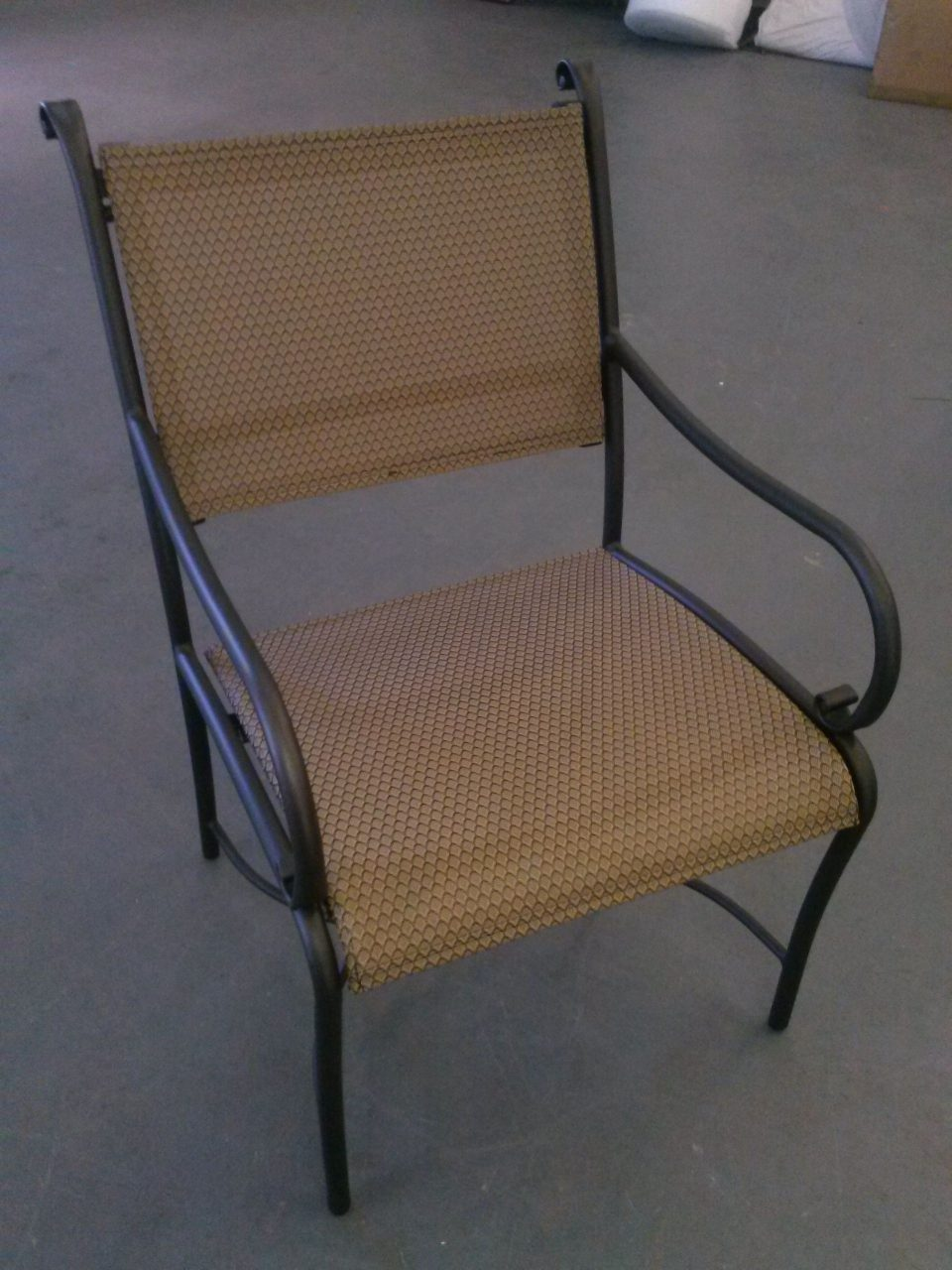 Repaired Outdoor Chair With New Sling And Powder Coating Furniture