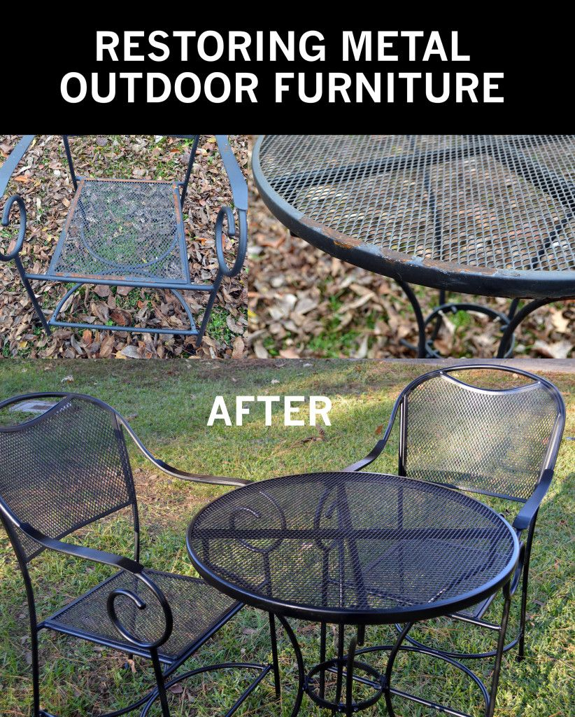 Restore Metal Outdoor Furniture To Like New Gardening Diy How To