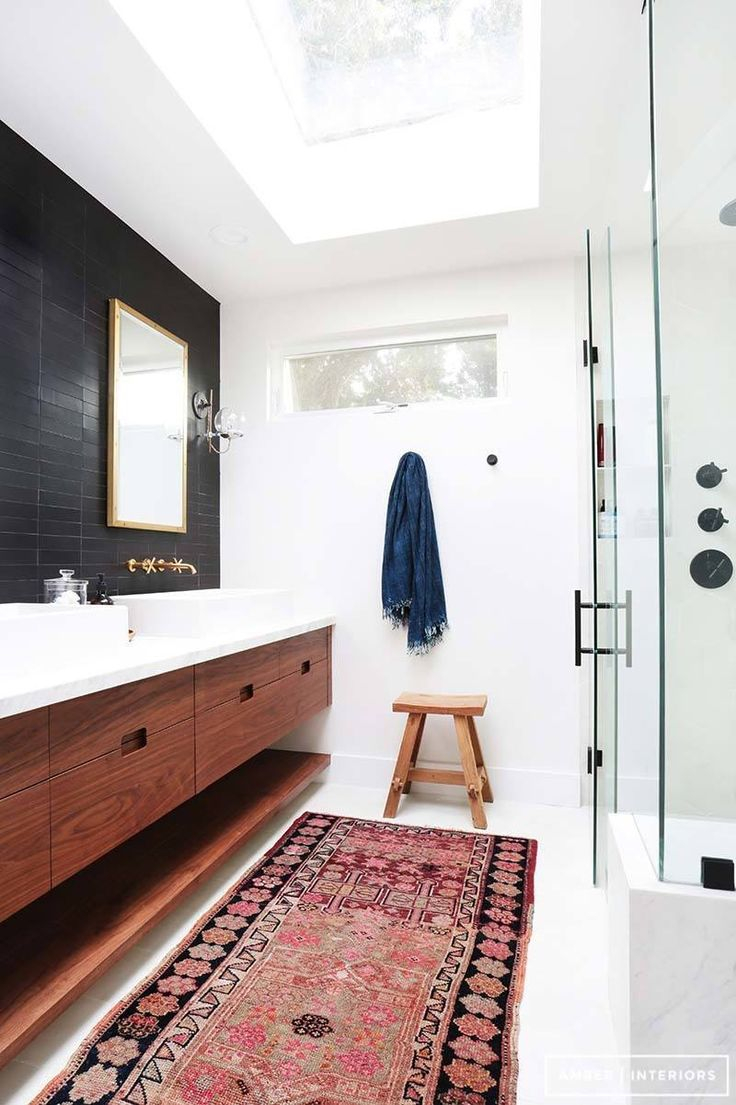 Retro Interior Art Design From 93 Best Black Bathrooms Images On
