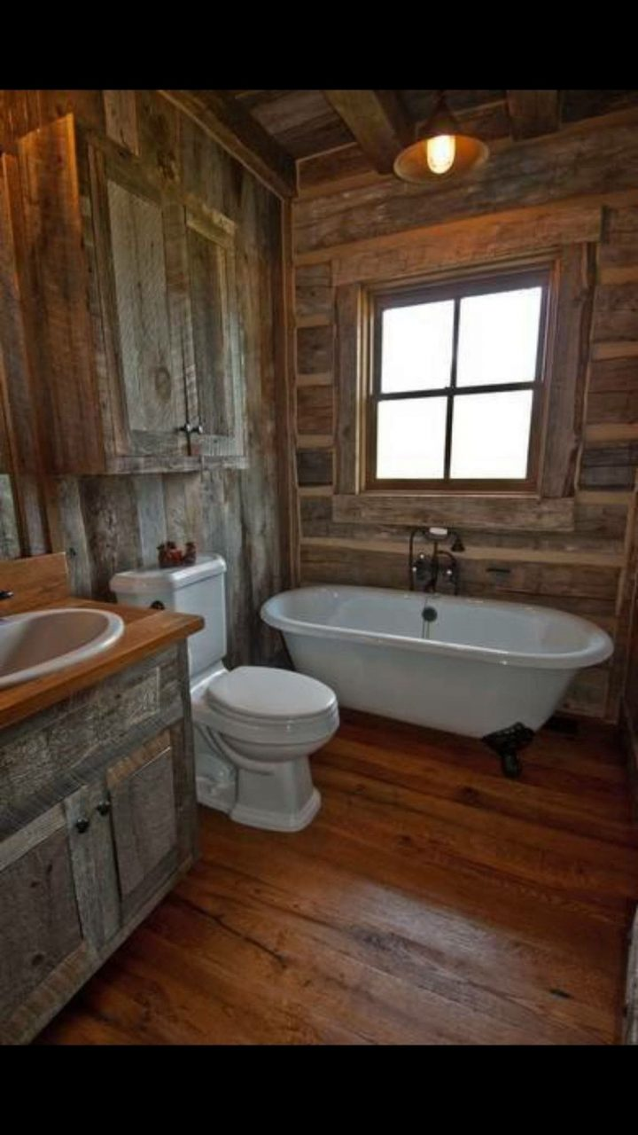 Rustic Bath Inside House Tables Shelving Furniture Doors Stair