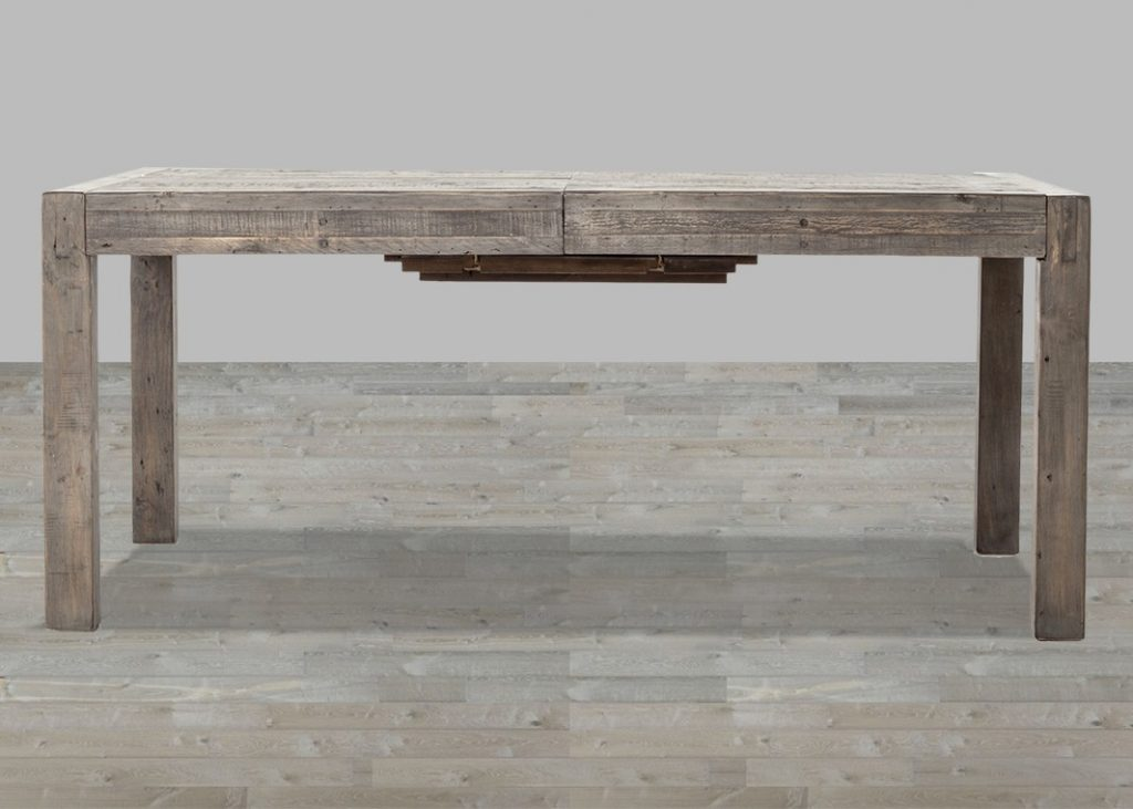 Rustic Black Olive Mixed Reclaimed Wood Dining Table
